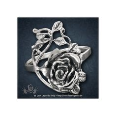 Ring mit Rosenranke Silber Gothic ❤ liked on Polyvore featuring jewelry, rings, goth jewelry, gothic rings, goth rings, gothic jewelry and gothic jewellery