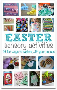 Dig in and get messy, smell , taste, and hear with all your senses. These Easter sensory activities are perfect for preschool but great for elementary aged kids as well.