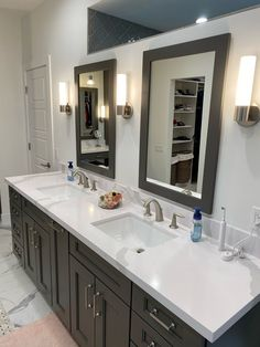 Your bathroom remodeling experts! Our team has been remodeling homes in Greater Phoenix for 25 years. When you're ready to remodel, give us a call. #twdaz #bathroomremodel #bathroomdesign #bathroomideas #bathroomvanity #wellborn Bathroom Remodeling, Home Remodeling, Dream Bathrooms, Remodels, Building Design, Double Vanity, Phoenix, Homes, Mirror