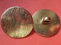 8 METALLKNÖPFE gold 20mm (1380-5) Knöpfe Metall