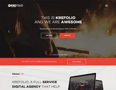 KreFolio - Startup Agency Landing Page Template