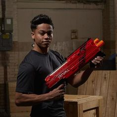 Experience intense head-to-head competition with the ultimate power of the Nerf Rival Atlas XVI-1200 blaster! Choose a blaster color and go into battle as the Red Team or the Blue Team. Deliver a double shot with the Atlas XVI-1200 blaster that fires 2 rounds at a time.
