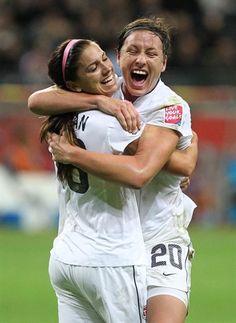 Olympics - USA Soccer - Abby Wambach & Alex Morgan