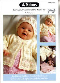 "311 Patons Knitting Pattern Baby Jacket Sweater Beret 4ply 14""-20"" 35-50cm on eBid United Kingdom"
