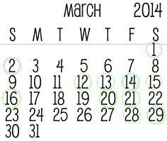 Moon Calendar March #marzo #march #mooncalendar #calendariolunare #haircut #tagliocapelli #daysyesorno #giornisiono