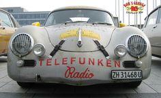 Porsche 356 vintage race car telefunken Radio oldschool patina car lettering cool mexico carrera panamericana
