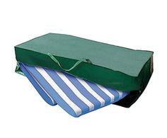 Sacca per cuscini da seduta in telo PE verde Roxy, 125x32x60 cm