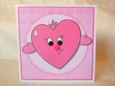 Heart I LoveYou Card Send A Hug UK Seller by squirrelcrafts46, £4.00 Feeling Under The Weather, Sending Hugs, Say Hi, Friend Birthday, Heart, Handmade Gifts, Cards, Etsy, Kid Craft Gifts