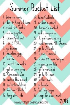 summer bucket list ideas for teens - Google Search
