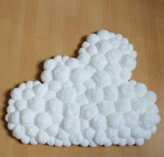 Bébé blanc tapis  Pom Pom tapis  pompon nuage tapis  tapis
