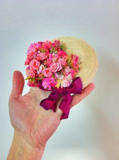 Handmade bibi, staw braids, silk flowers, country stile Made by www.verhutung.at