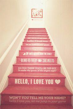 Jim Morrisson lyric stairs...