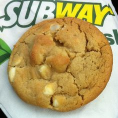 white chocolate macadamia @ Subway