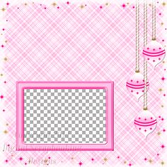 "Layout QP 2D-2 Pink.....Quick Page, Digital Scrapbooking, Christmas Time Collection, 12"" x 12"", 300 dpi, PNG File Format"