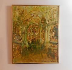 Painting On Glass Windows, Stained Glass Windows, Love Oil, Church Interior, Autumn Day, House Warming, Oil On Canvas, Museum, Zimmerman