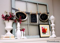 Cute spring mantle and great old window