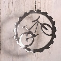 Mountain Bike Bicycle Art Wind Chain Spinner by ShineOnSportyGirl, $20.00
