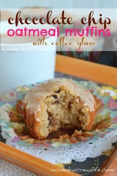 Chocolate Chip Oatmeal Muffins - eating cookies for breakfast made acceptable. #muffins #chocolatechip http:/www.insidebrucrewlife.com