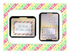 CVC WORD FILE FOLDER GAME (Phonics) - great for literacy centers or for students who finish work early! Preschool, kindergarten and first grade! It is very easy to differentiate based on skill level. It is based off of the Pearson Reading Street Program and helps students practice blending sounds!