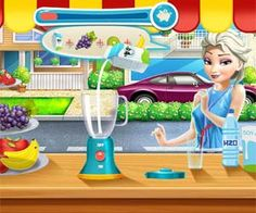 Make some tasty juice in this Ariel smoothie game in which you will have to first decorate the juice box stand and only afterwards will you be able to add the fruit and the milk to the blender in order to make some tasty shakes