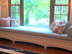 Look at the detailing on this window seat.  I need for this to visit at my house :)
