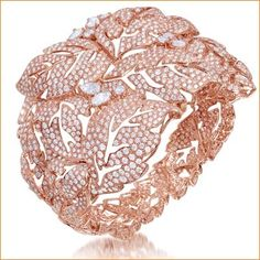 All diamond bracelet set in 18K rose gold.