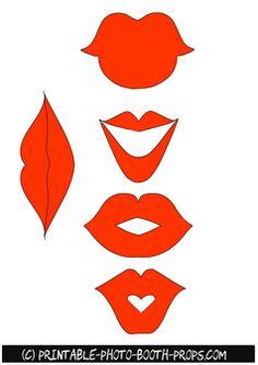 Free Printable Orange Lips Props