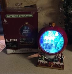 """Rare Enchanted Forest 9"""" Led Christmas Village Blowing Snow Ball Open Box"""