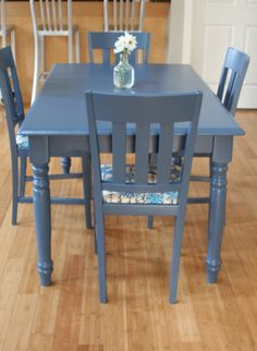 How to paint table and chairs
