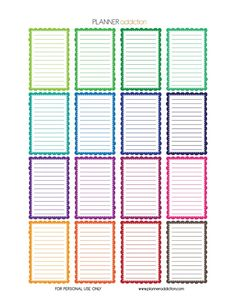 Free Printable Planner Stickers - Frames - Happy Planner