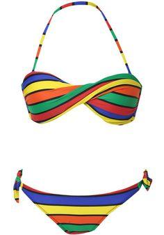 ab47ef284f Multicolor Halter Striped Strapless Bandeau Bikini pictures Bikini  Pictures