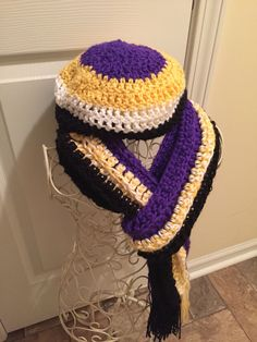 Baltimore Ravens Scarf and Hat