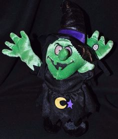 "Vintage DanDee Singing Jumping Halloween Witch Plush ""Scream for Halloween"" VGUC #Dandee"