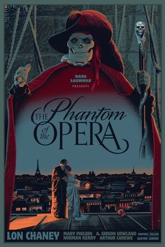 The Phantom of the Opera (1925) - by Laurent Durieux (I spy an Eiffel Tower!)