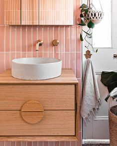 Designed & manufactured in Australia. Coveted and used by the world's leading interior designers. Concrete Basin, Concrete Interiors, Bathroom Interior Design, Powder Room, Sink, Vanity, Projects, Bathroom Vanities, Home