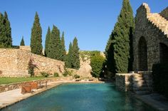 In Cassis, France; XIII Century newly renovated Castle with old stone pool... pure bliss.  I want to go to there