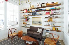 Food52's New Office Closed Lounge LibraryNew York City Mark Weinberg