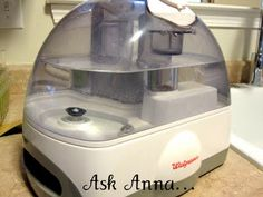 Cleaning your humidifier ..... Running 45 min w/ white vinegar & another 45 min w/ water.