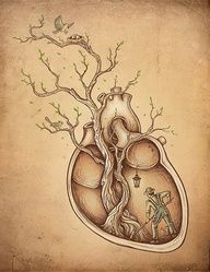 This illustration is truly an art. They took the symbolic meaning of what's in your heart rather than what's actually in your heart. http://www.illustrationweb.us/Default.aspx