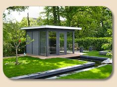 Design Outdoor Sauna Glas Holz (Gartenhaus)