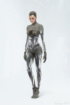 CGI design of Ava by Karl Simon for Ex Machina Isaac Asimov, John Carter Of Mars, Space Fashion, Concept Art World, Fifth Element, Angel And Devil, Ex Machina, Character Design References, Cyberpunk