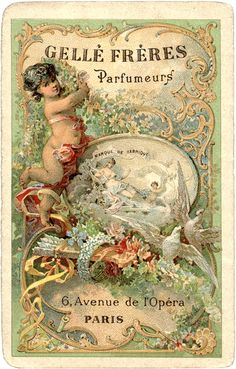 Romantic Paris Perfume Label - Gorgeous! - The Graphics Fairy