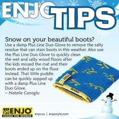 Have Your Enjo Living Duo Glove For A Quick Chemical Free Clean Up