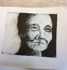 'Martha', collagraph  By Saffron Print
