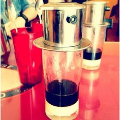 iced vietnamese coffee with condensed milk. Oh I miss this.