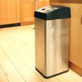 Found it at Wayfair - 13-Gal. Square Extra-Wide Opening Touchless Trash Can. $81