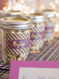 Easy #DIYWedding Favor Idea! Get more ideas >> http://www.hgtv.com/design/make-and-celebrate/entertaining/diy-wedding-favors-pictures?soc=pinterest