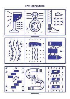 Nicolas Galkowski on Behance Typography Layout, Lettering, Graphic Design Typography, Typography Served, Line Illustration, Graphic Design Illustration, Line Design, Icon Design, Grafik Design