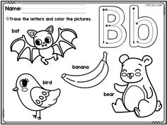 Free Alphabet Trace and Color is a fun way for students in Preschool, Pre-K, and in Kindergarten to learn the alphabet and beginning sounds. | Pre K | Kindergarten | Freebies | Free Alphabet Worksheets | Free Kindergarten Worksheets | Alphabet | Trace and Color | Coloring Pages | Alphabet Tracing