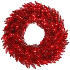 60″ Pre-Lit Red Tinsel Artificial Christmas Wreath – Red Lights  http://www.fivedollarmarket.com/60-pre-lit-red-tinsel-artificial-christmas-wreath-red-lights/